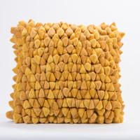 Pebble Chamois Pillow-Yellow