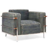 Colins Denim Arm Chair