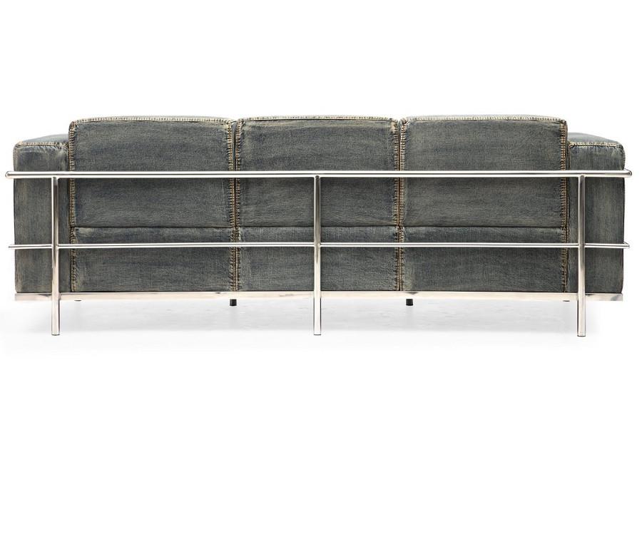 colins blue denim sofa   zin home