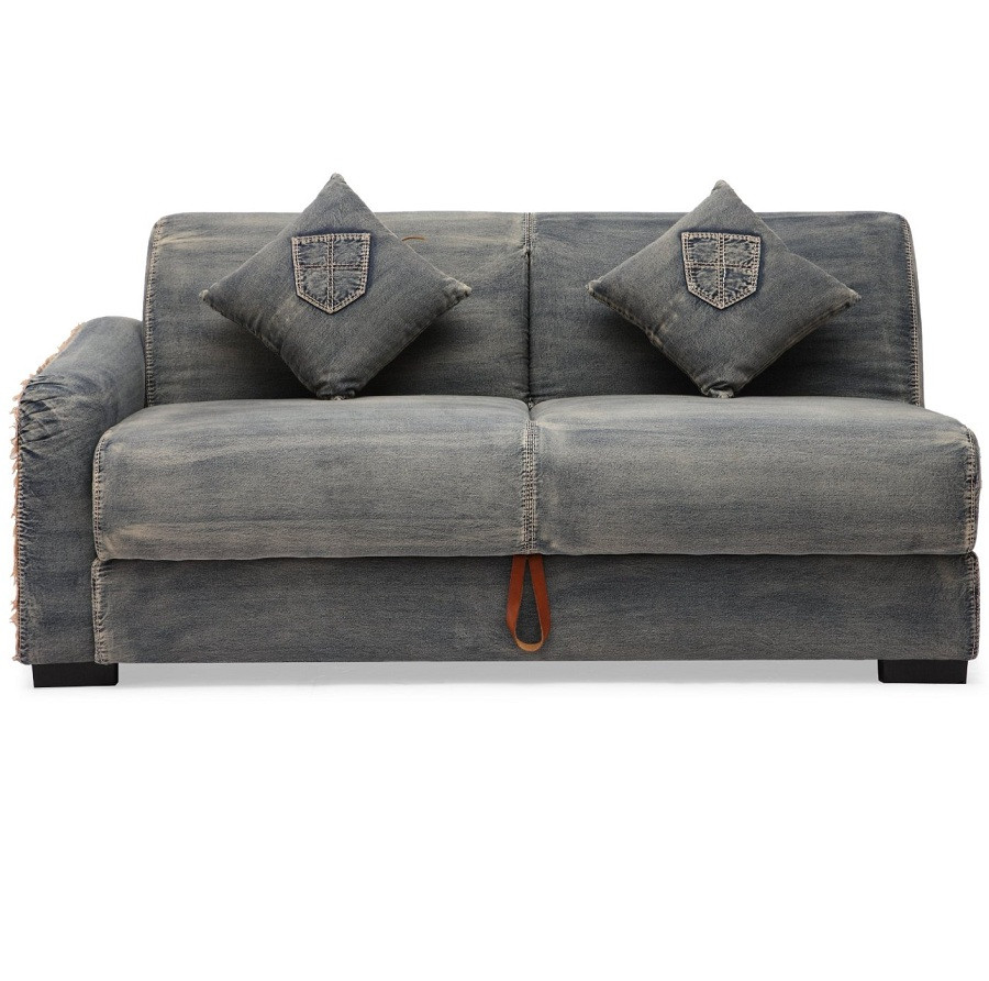 Colins Denim Sleeper Sectional Sofa Zin Home