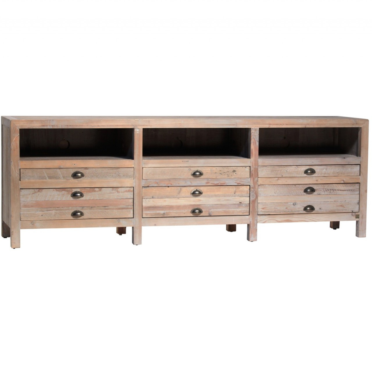 Reclaimed Media Cabinet Tv Media Stands Media Console Furniture Zin Home
