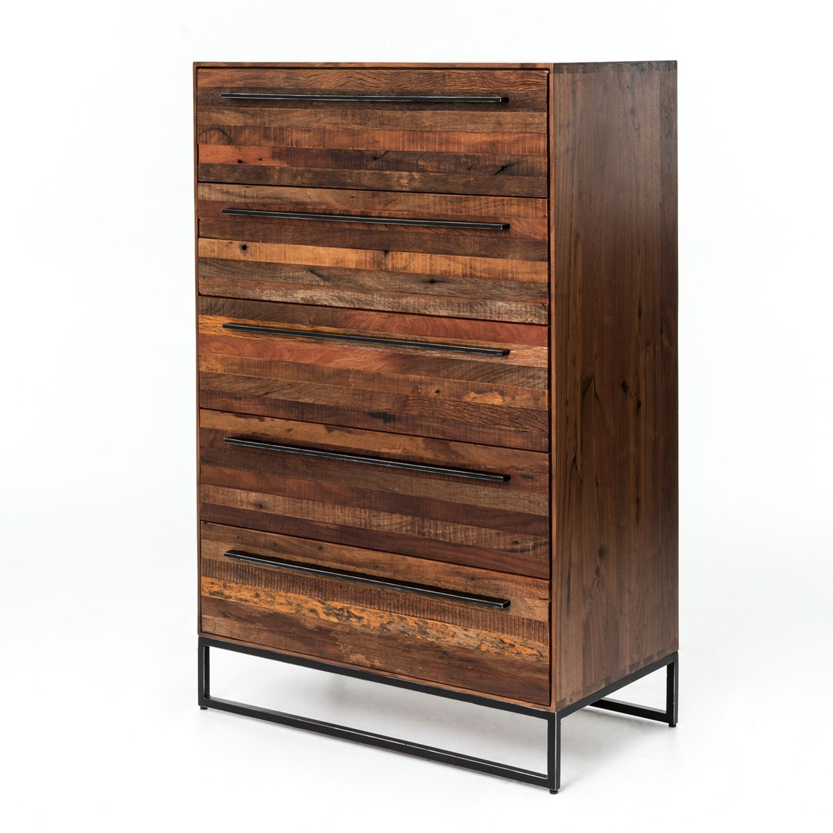 Emily Reclaimed Wood Tall Dresser · Emily Reclaimed wood 5 Drawer chest ... - Emily Reclaimed Wood Tall 5 Drawer Dresser Zin Home