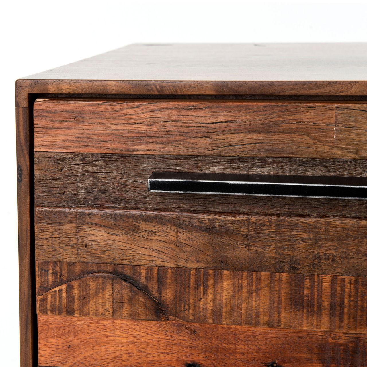 ... Emily Reclaimed Wood Dresser - Emily Reclaimed Wood Tall 5 Drawer Dresser Zin Home