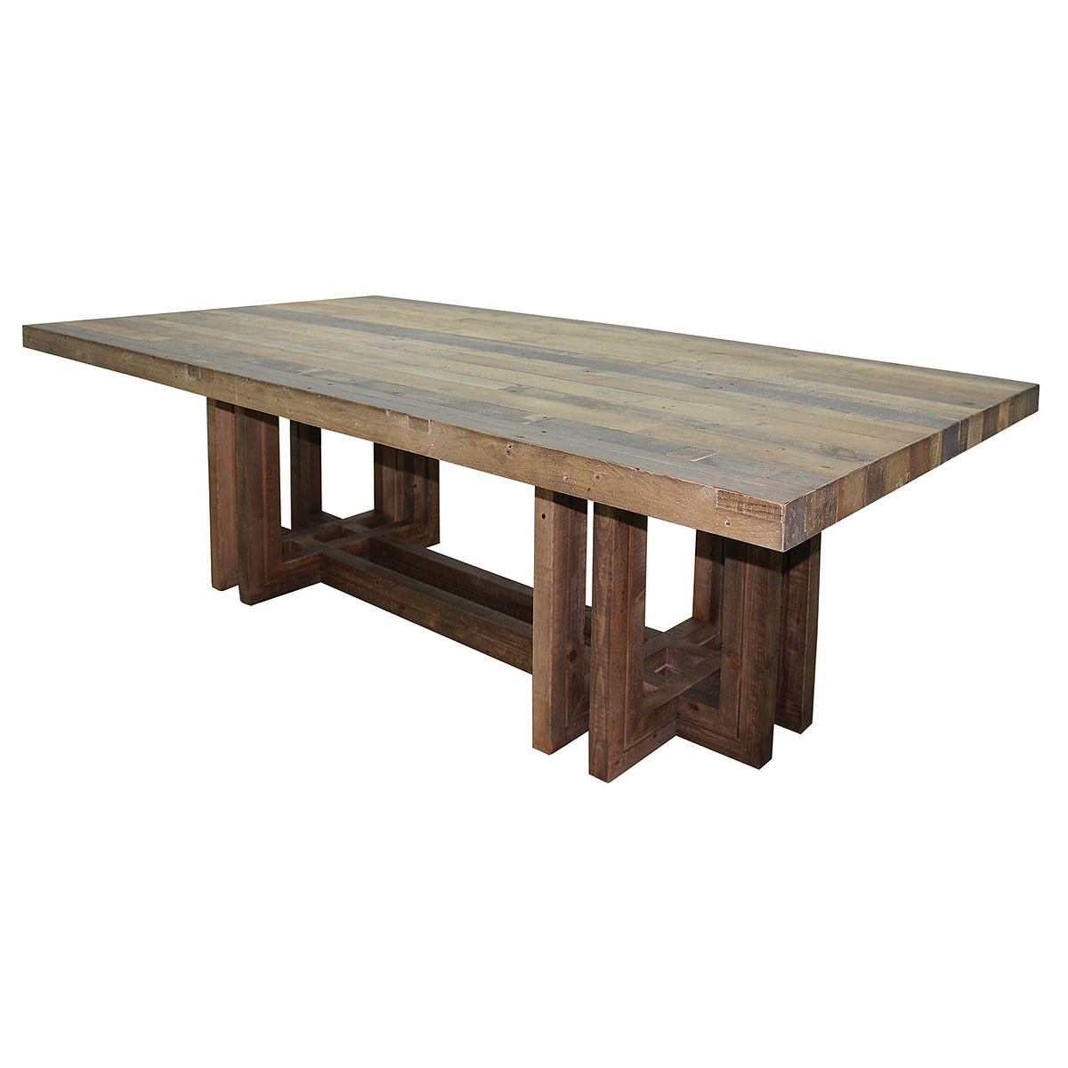 Reclaimed Wood Trestle Dining Table WB Designs - Reclaimed wood dining table