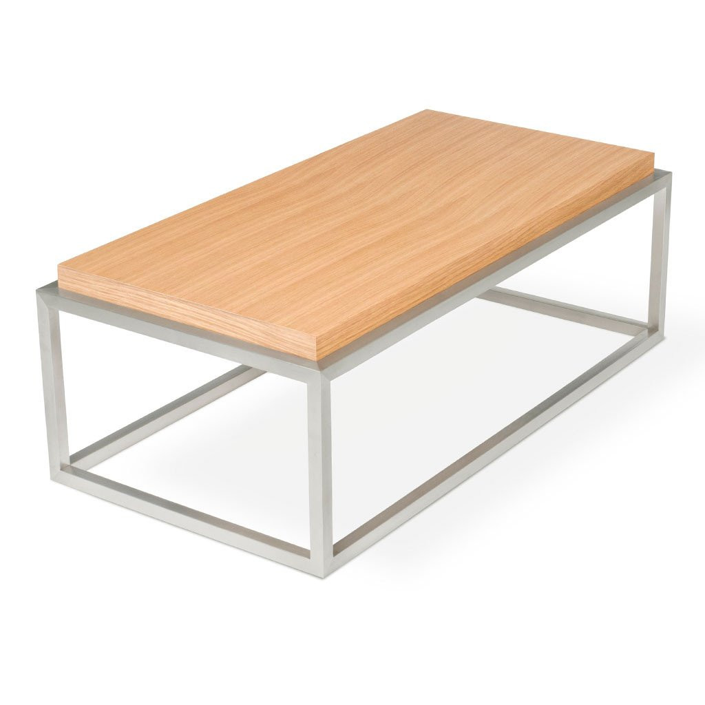 Suffolk Simplicity Reclaimed Wood Square Industrial Coffee: Gus Modern Drake Rectangle Coffee Table