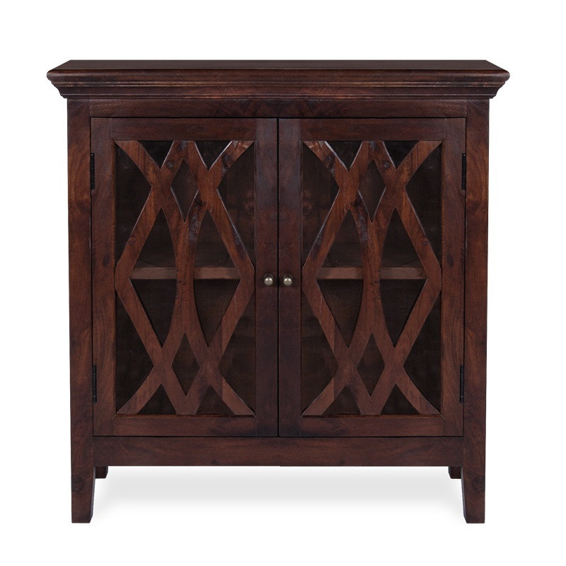 Somerset Small Wood Sideboard Buffet Antique Brown Zin Home