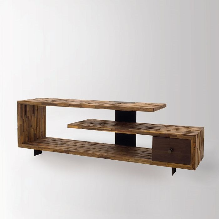 Image 1 ... - Jonah Reclaimed Wood TV Console Table Zin Home