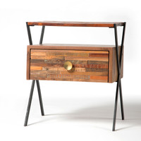 Zoe Mixed Reclaimed Wood Side Table