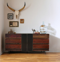 Nash Indusrial Reclaimed Wood 6 Drawer Dresser