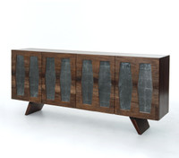Berlin Reclaimed Wood 4 Door Console