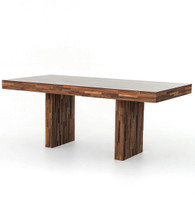 Landon Re-Cycle Mixed Wood Dining Table 76""