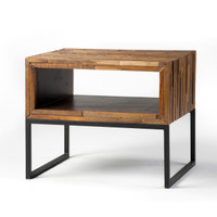 Vince Mixed Reclaimed Wood End Table