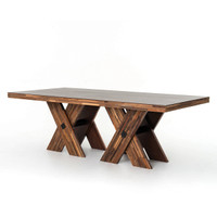 Re-Cycle George Mixed Reclaimed Wood Dining Table 93""
