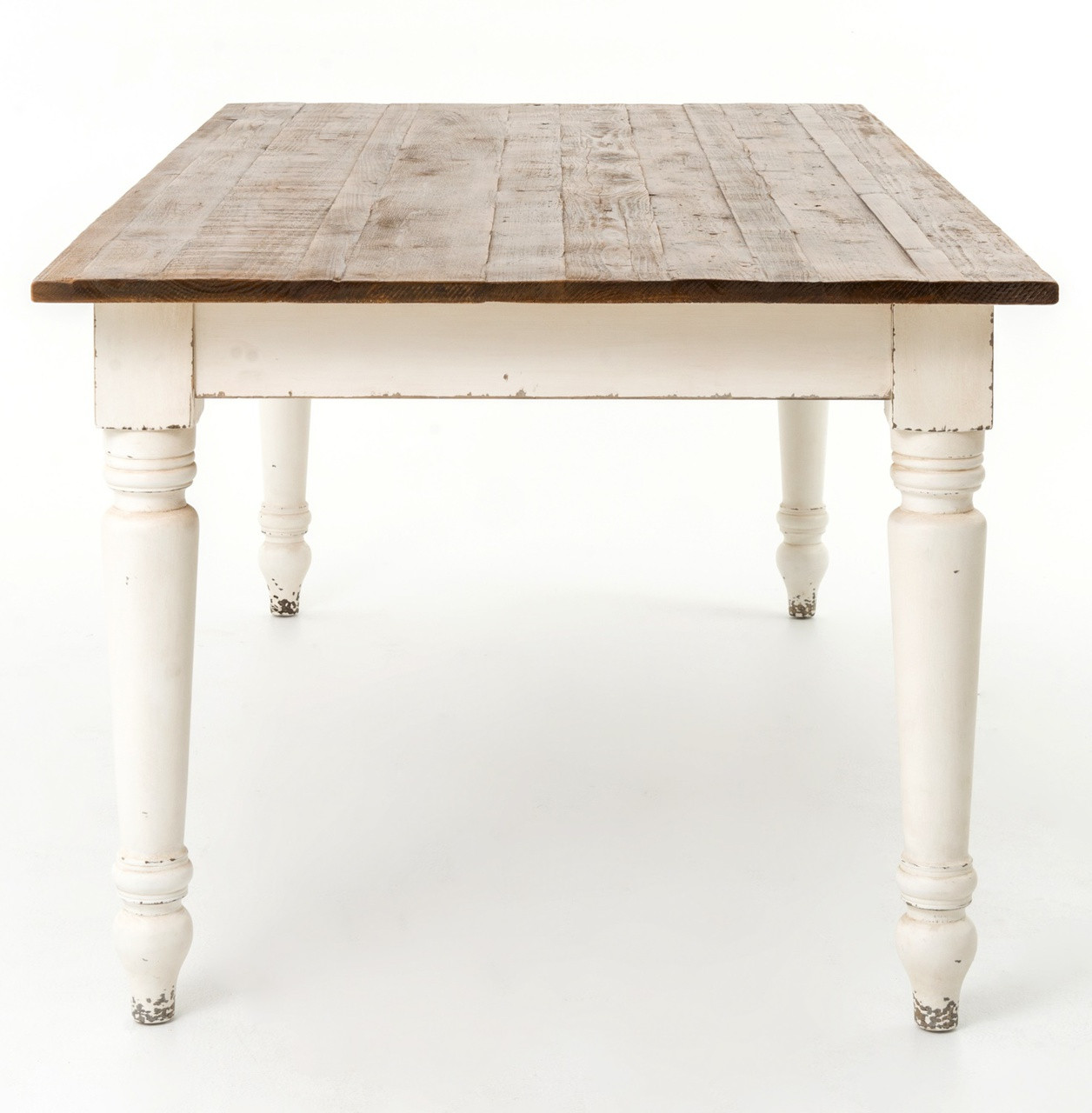 French Cottage 87 Quot Rectangular White Dining Room Table