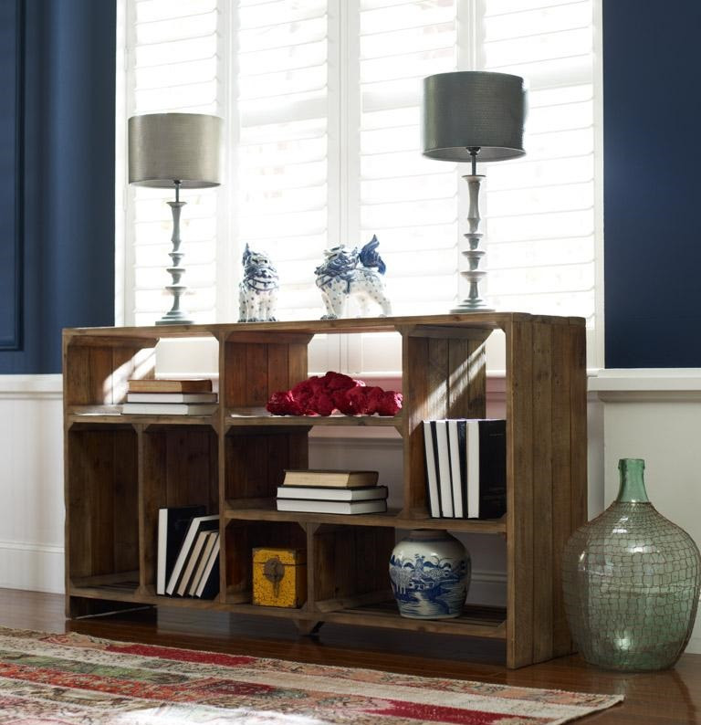 Reclaimed Wood Rustic Home Office: Rustic Reclaimed Wood Room Divider Console