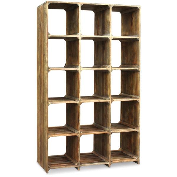 ... Reclaimed Wood Open Bookcase; CIMP-P4-BP HUGHES LARGE OPEN BOOKCASE ... - Hughes Rustic Reclaimed Wood Open Bookcase Zin Home