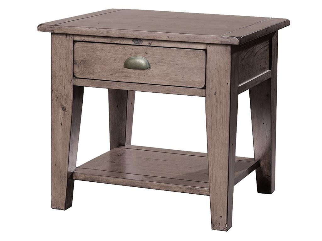 coastal solid wood rustic side table with  drawer  zin home - coastal solid reclaimed wood side table with  drawer