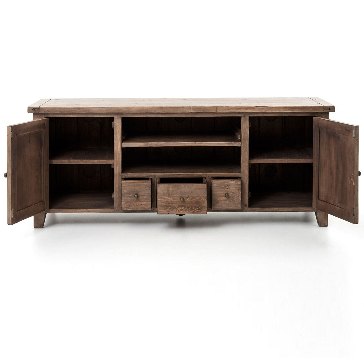 Rustic Media Console Rustic Media Console Front View With