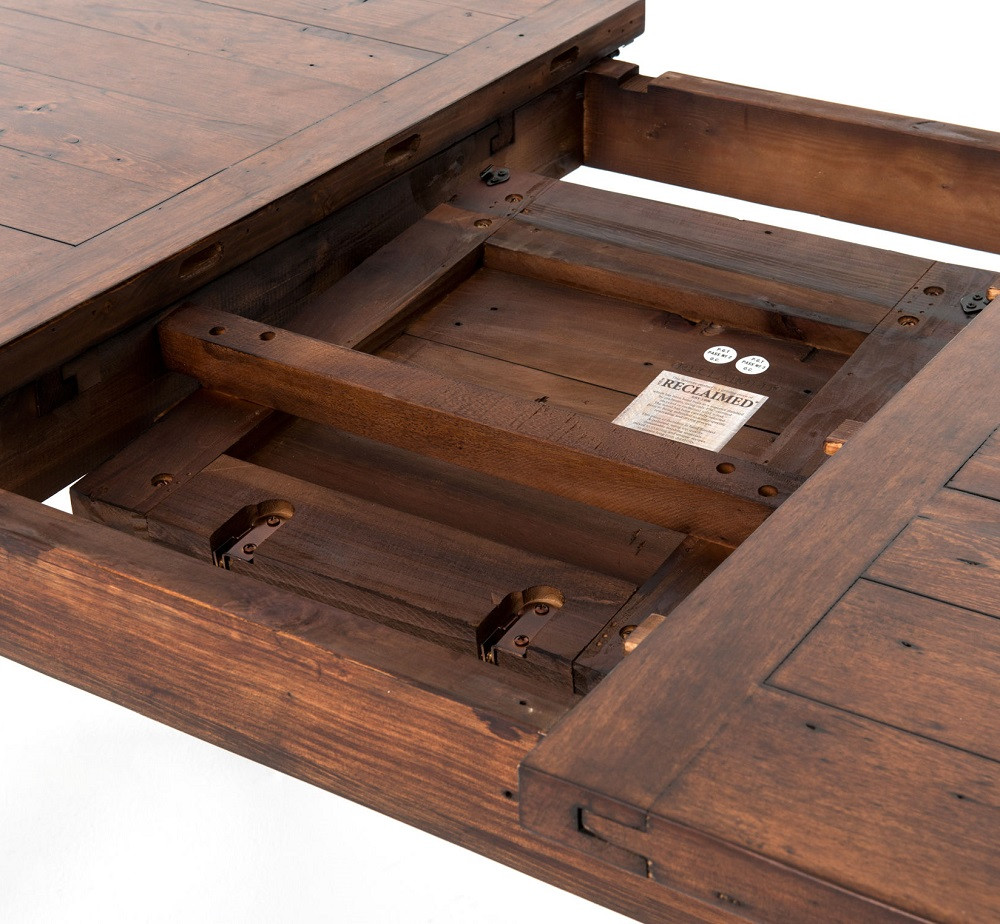 ... Coastal Rustic Reclaimed Wood Extendable Dining Room Table Top ...