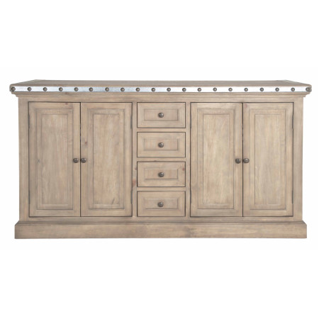 Maddox Warner Sideboard With Antique Zinc Zin Home
