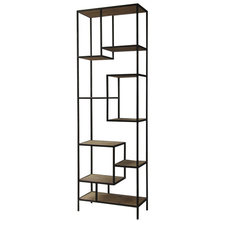 Geometric Reclaimed Wood And Iron Bookcase 102 on home design living room furniture