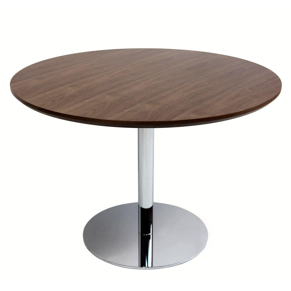 Tango round dining table 43 with walnut table top zin home for Modern large round dining table