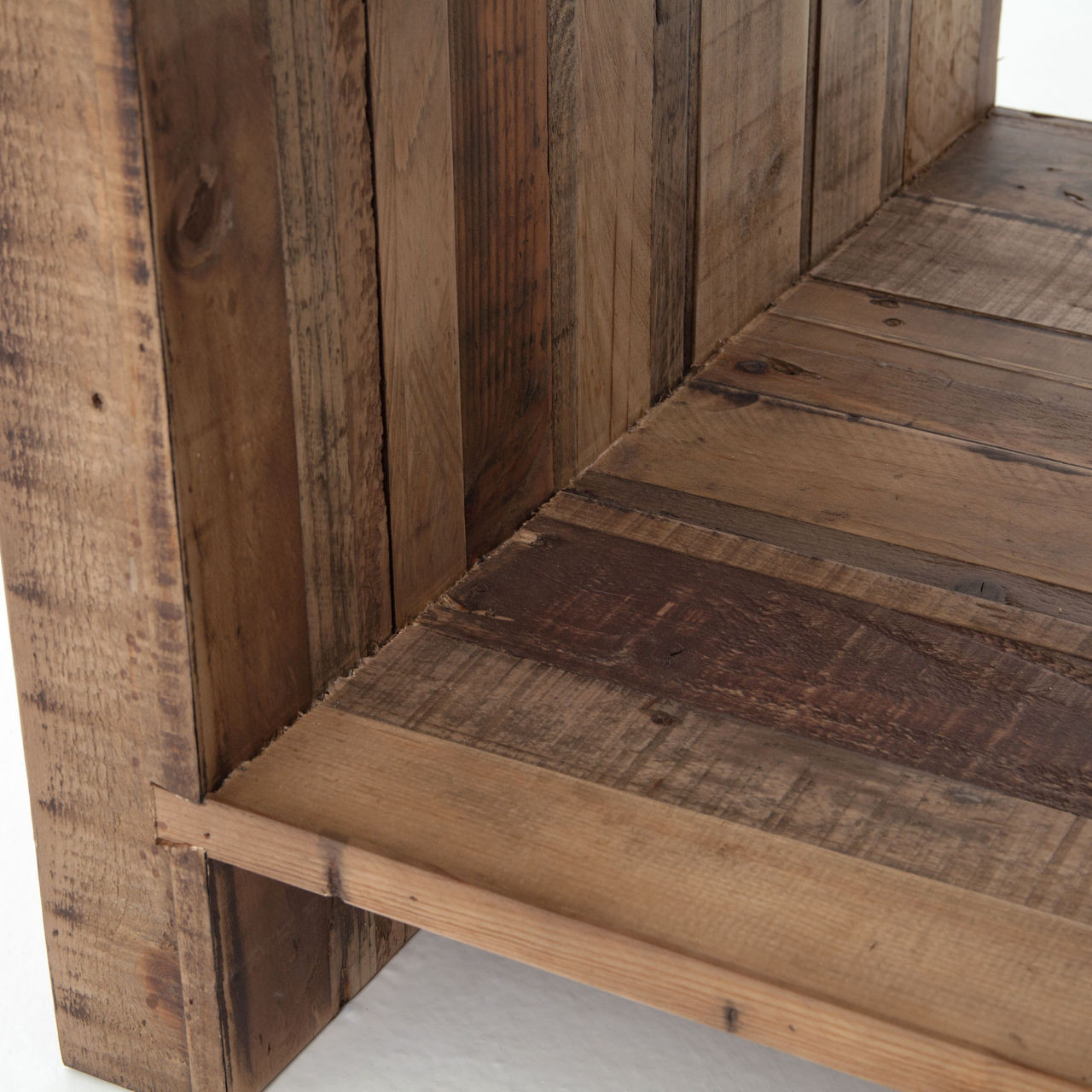 Suffolk Simplicity Reclaimed Wood Square Industrial Coffee: Angora Reclaimed Wood Square End Table
