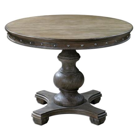 sylvana round pedestal kitchen table 42 zin home. Black Bedroom Furniture Sets. Home Design Ideas