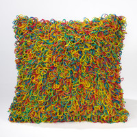 Rubber Band Pillow- Multi Bright