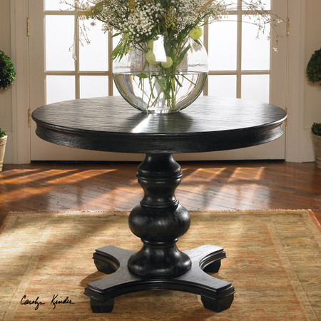 Brynmore Black Round Pedestal Table 42 Quot Zin Home