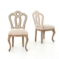 Jillian Dining Side Chair-Ecru