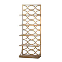 Lashaya Polished Gold Leaf Display Etagere with 5 Shelf