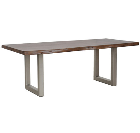 Montana Solid Wood Metal Leg Dining Table 94 Zin Home