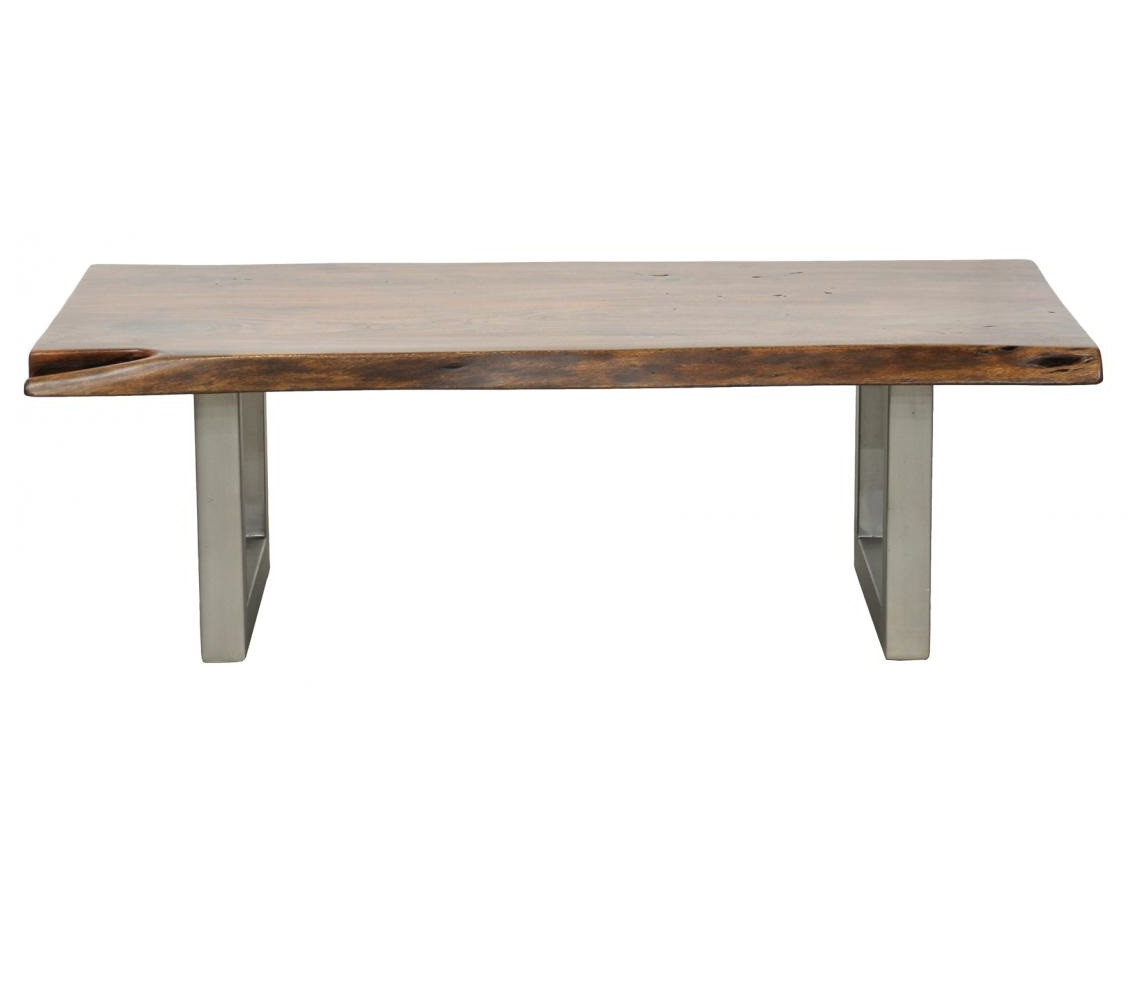 Wooden Coffee Table Metal Legs: Montana Solid Wood Metal Leg Coffee Table