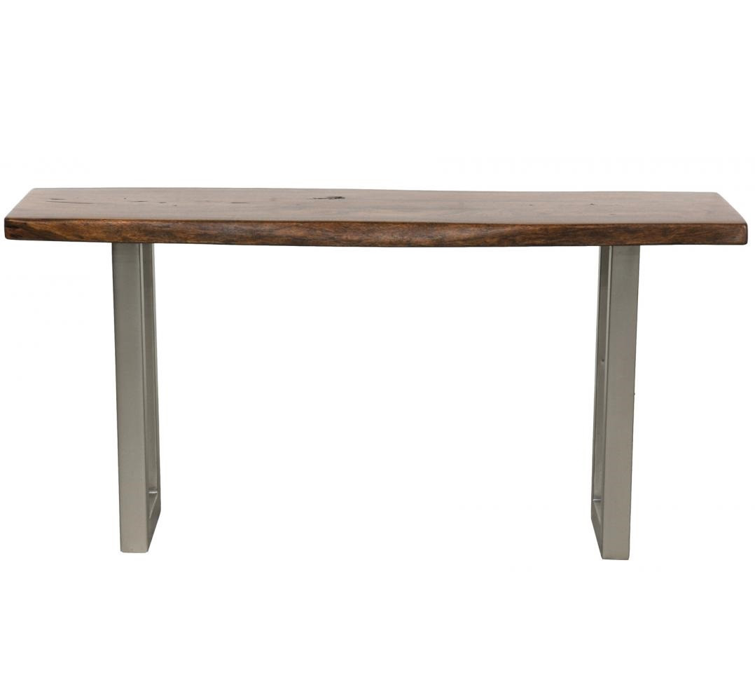 Montana Solid Wood Metal Leg Console Table Zin Home