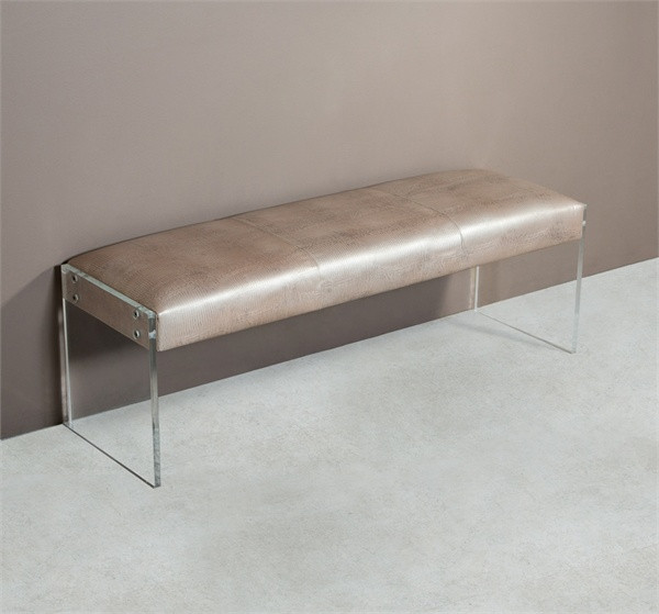 home furniture entrance nori lizard leather bench with acrylic legs image 1 loading zoom acrylic legs furniture acrylic legs