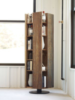 Ruel Reclaimed Wood Revolving Bookcase