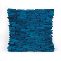 Cobblestone Pillow Moroccan Blue