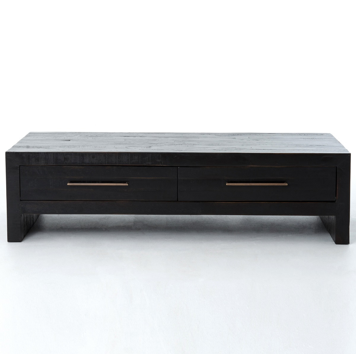 Suffolk Simplicity Reclaimed Wood Square Industrial Coffee: Burnished Black Reclaimed Pine Wood Coffee Table With