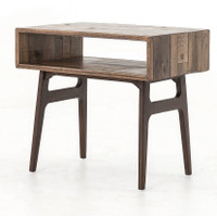 Wesson Reclaimed Oak Wood Side Table