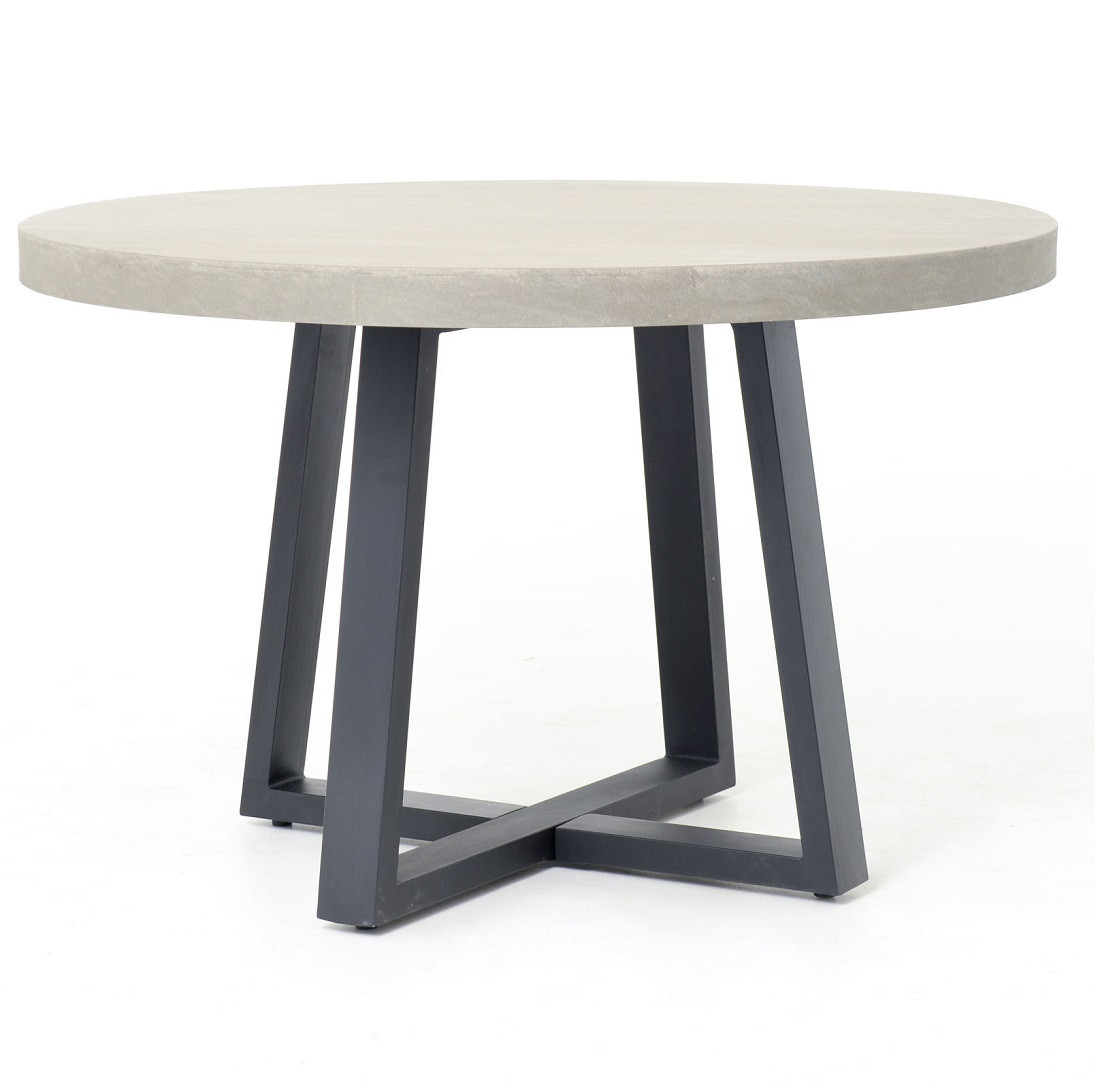 Masonry concrete 48 round dining table zin home for Dining room tables 48 round