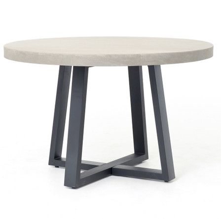 Masonry Concrete 48 Quot Round Dining Table Zin Home