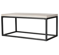 Masonry Concrete Box Frame Rectangular Coffee Table