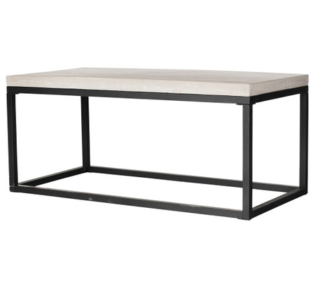Room Coffee Tables Masonry Concrete Box Frame Rectangular Coffee Table