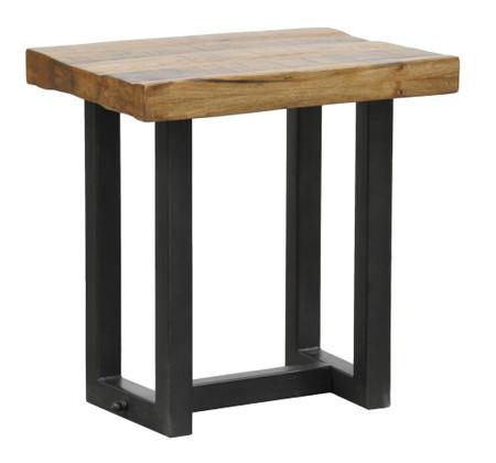 Restoration Metal Wood End Table Zin Home