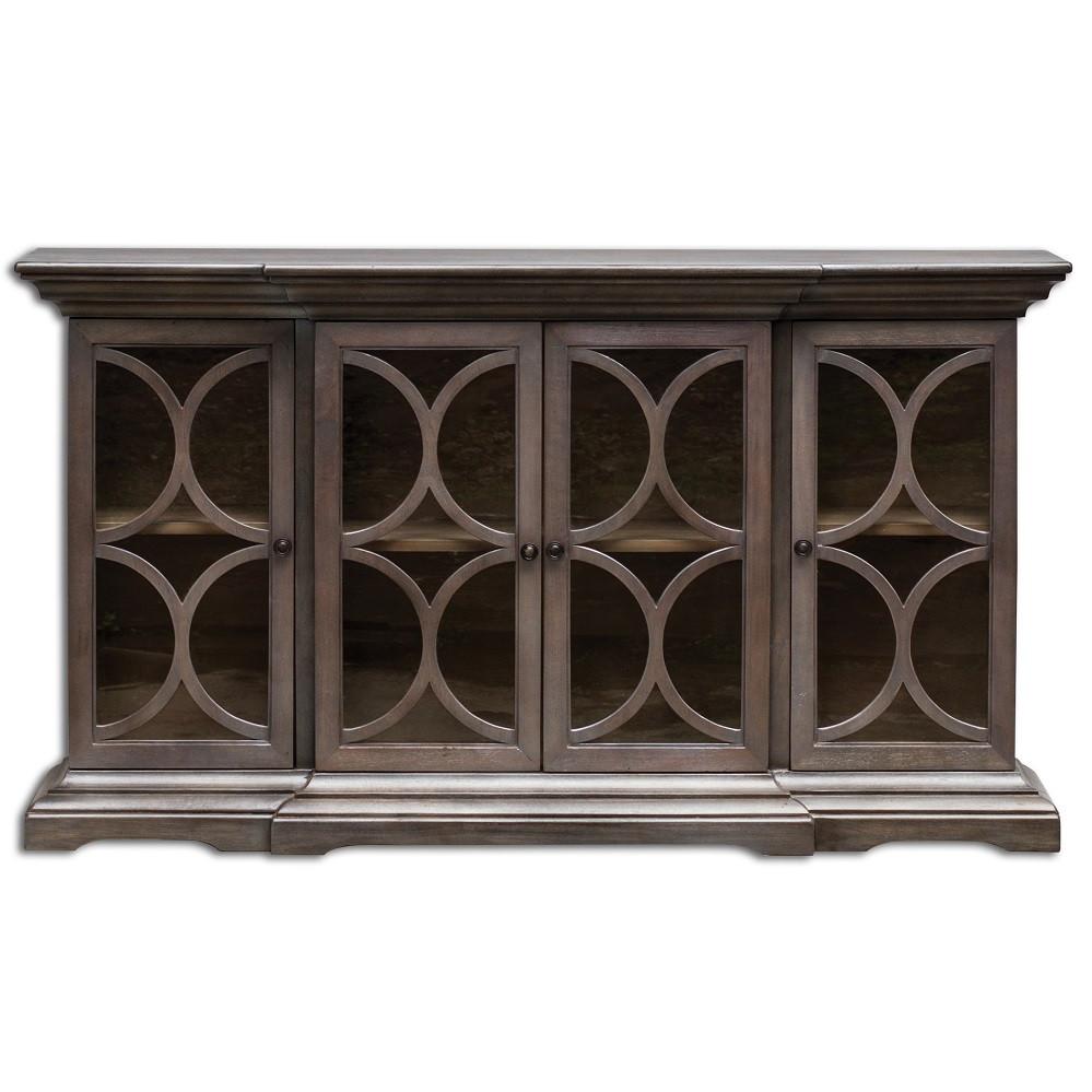 Belino 4 Door Solid Wooden Sideboard Cabinet Zin Home