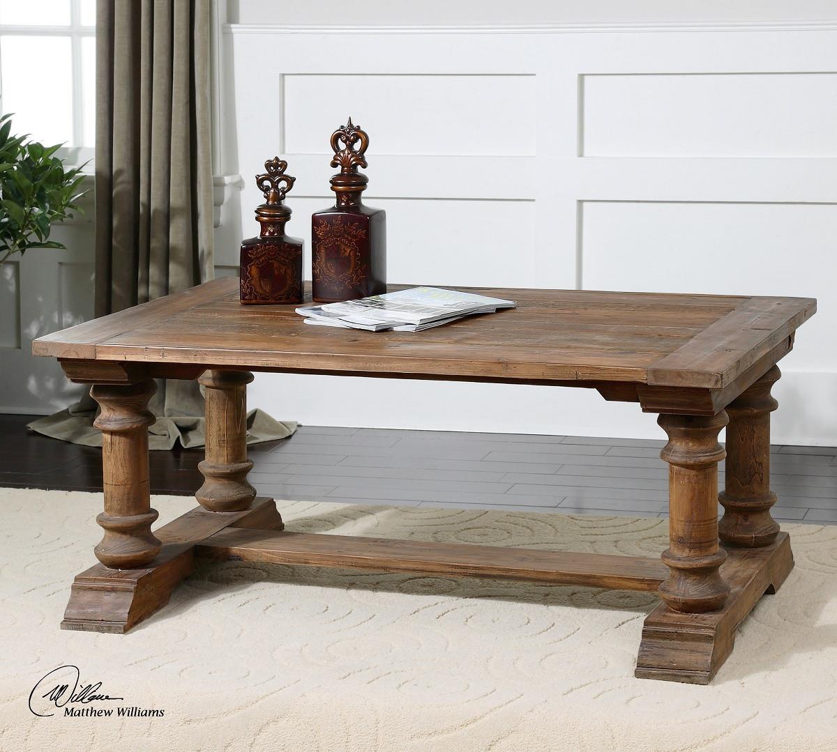 Saturia Balustrade Reclaimed Wood Coffee Table
