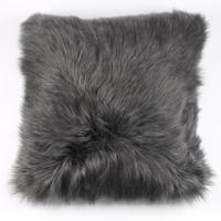 Faux Lamb Pillow Gray