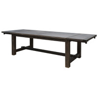 Barn Wood Extension Dining Table 118""