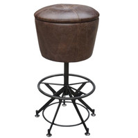 Pommel Horse Vintage Leather Barstool